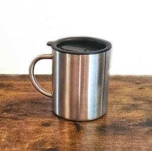 Stainless Steel Coffee Cup With Slider Lid Small